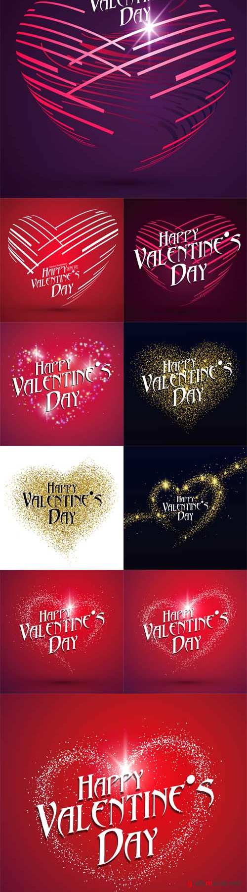 Vector Abstract heart-shaped pattern. Valentines Day greeting cards available