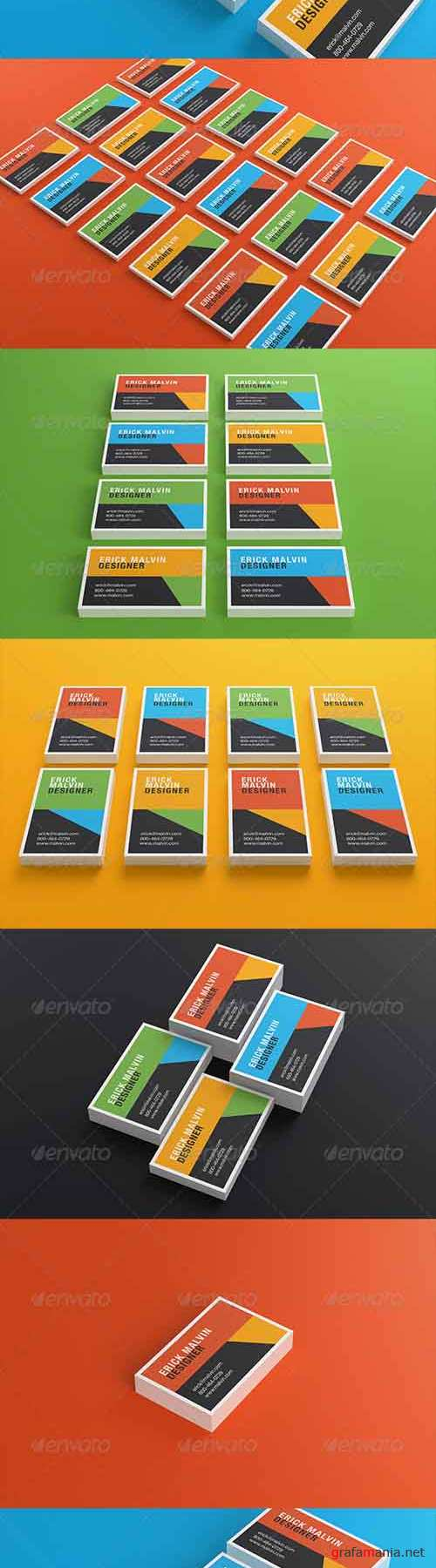 Business Cards Mock-up [8.5x5.5 cm] 5587269