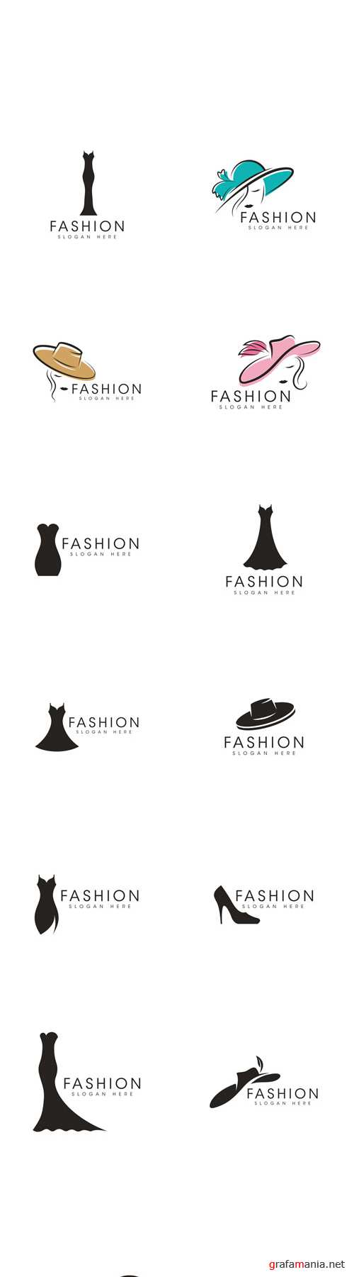 Vector Fashion Icon Logo Design