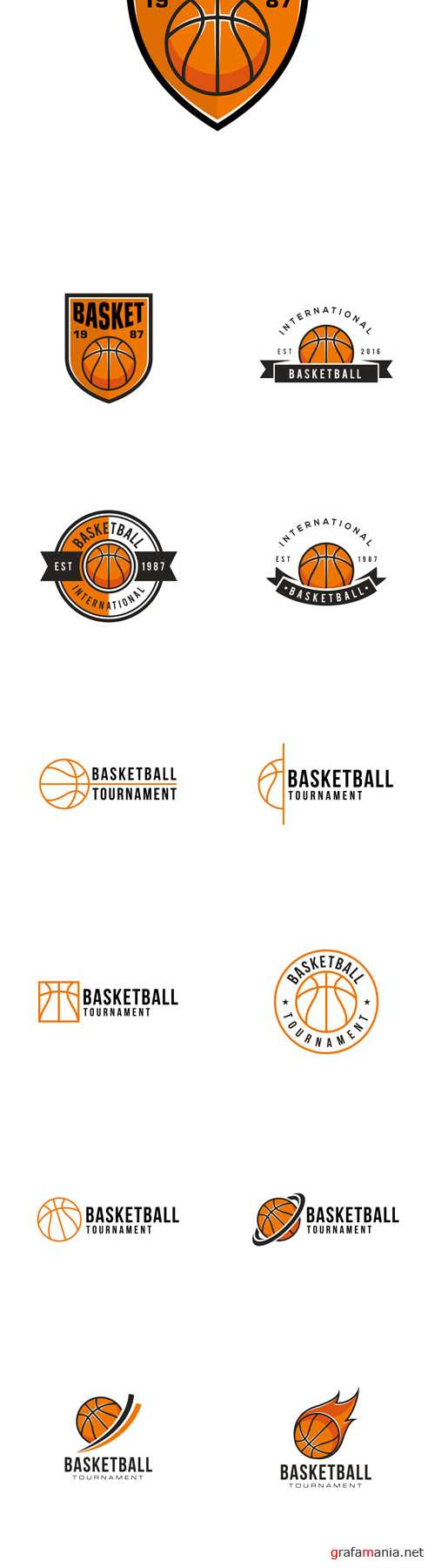 Vector Basketball Professional Logo Design