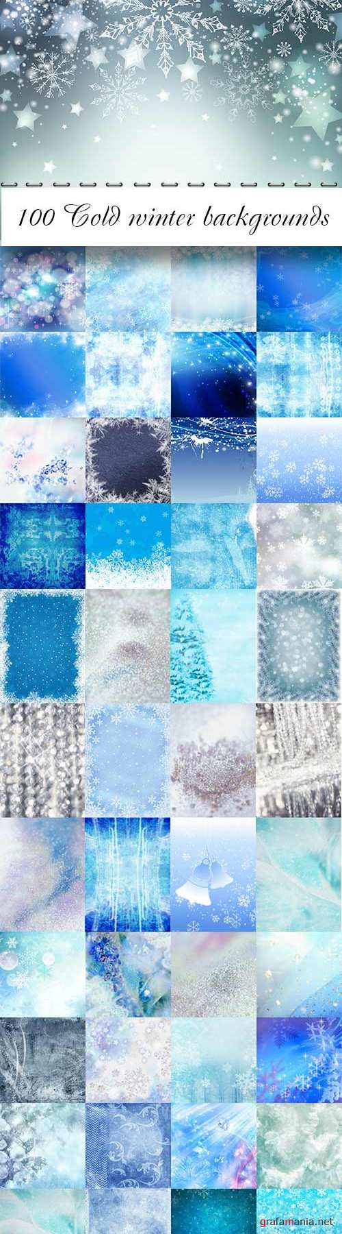 100 Cold winter backgrounds