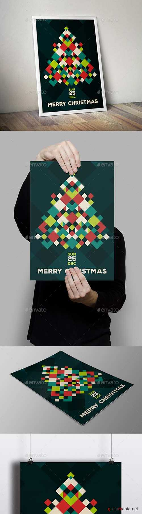 Modern Merry Christmas Flyer Card 18835637