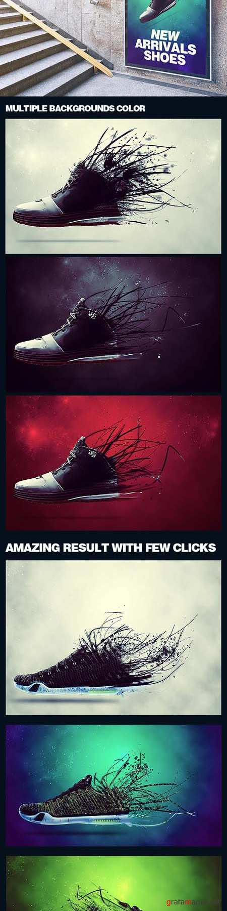 GraphicRiver - Creative Dispersion Photoshop Action 18634115
