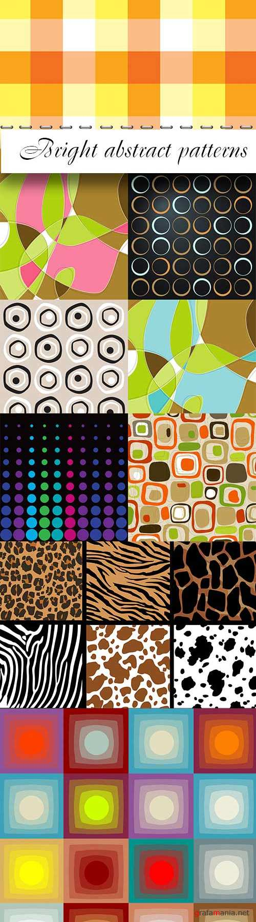Bright abstract patterns