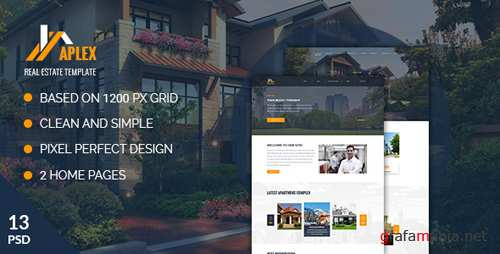 Aplex — Apartment Complex PSD Template 18701346