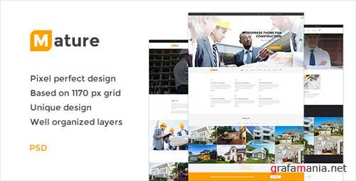 Mature — Building & Construction PSD Template 18824248