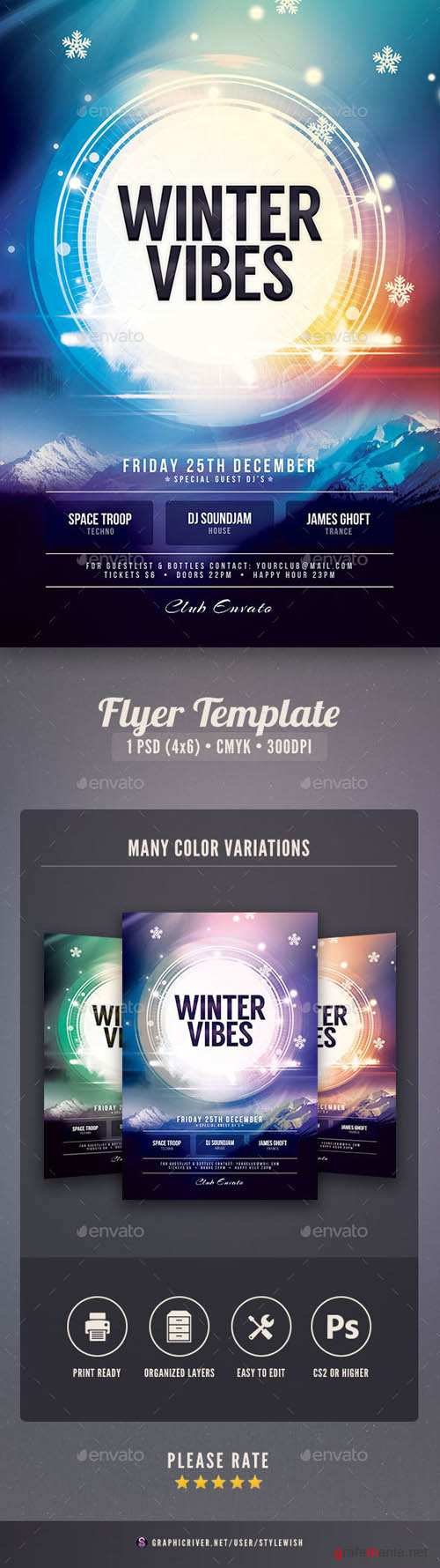 Winter Vibes Flyer 18263761