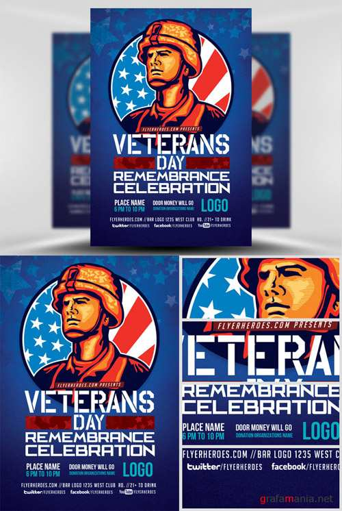 Flyer Template - Veterans Day Remembrance Celebration