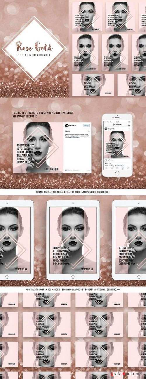 ROSE GOLD | Social Media Pack - 1039765