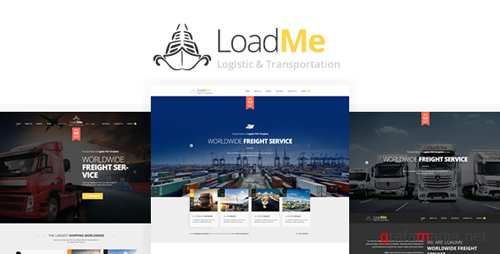 LoadMe - Logistic & Transportation PSD Template 16611294