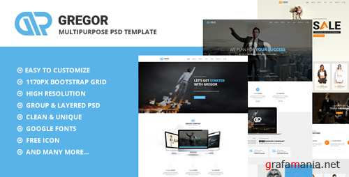 Gregor - Multipurpose PSD Template 16277313