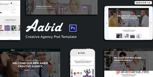Aabid | Creative Agency PSD Template 18843200