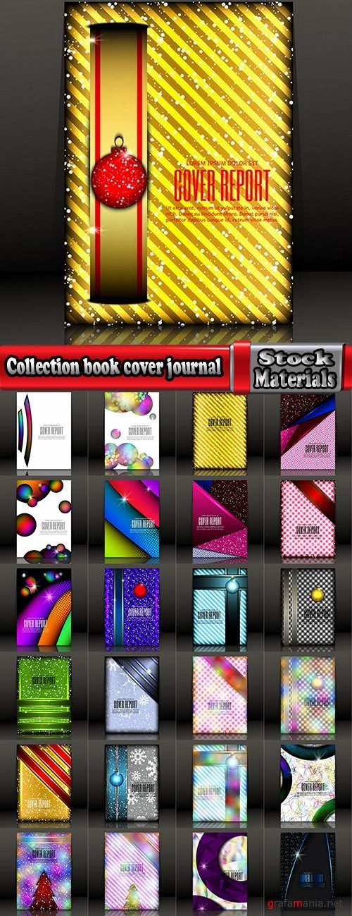 Collection book cover journal notebook flyer card business card banner vector image 34-25 EPS