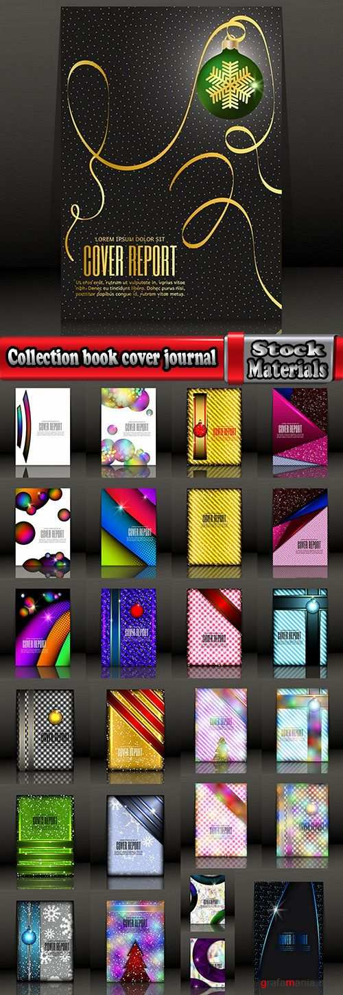 Collection of New Year banner Christmas flyer cover invitation card 25 EPS