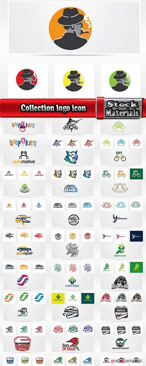 Collection logo icon web design element site 29-25 EPS