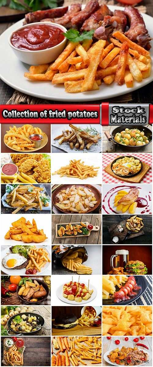 Collection of fried potatoes burger sauce 25 HQ Jpeg