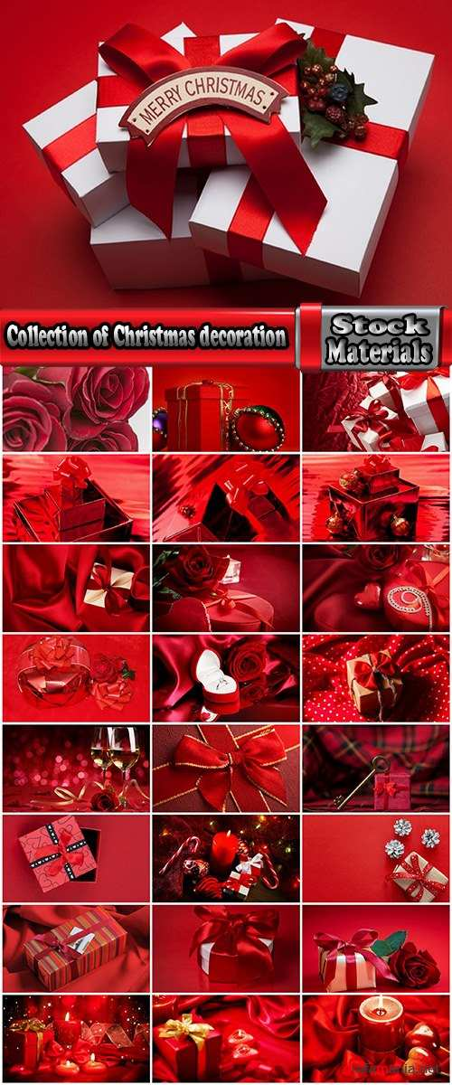Collection of Christmas decoration design Christmas gift box bow ribbon wrapping 25 HQ Jpeg