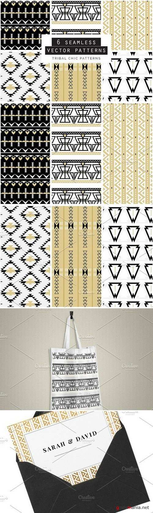 Tribal Seamless Vector Patterns - 615545