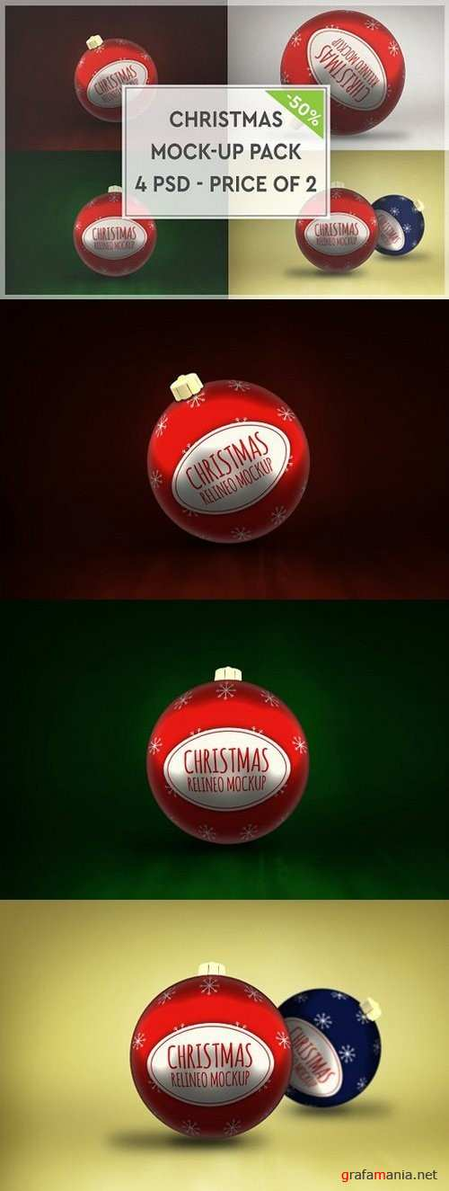 Christmas Mock-up Pack#3 1088330