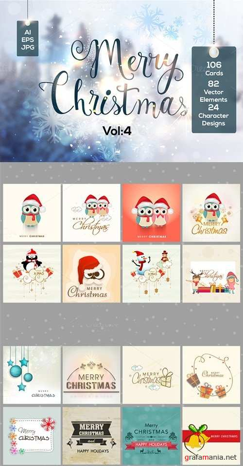 106 Christmas Cards Bundle