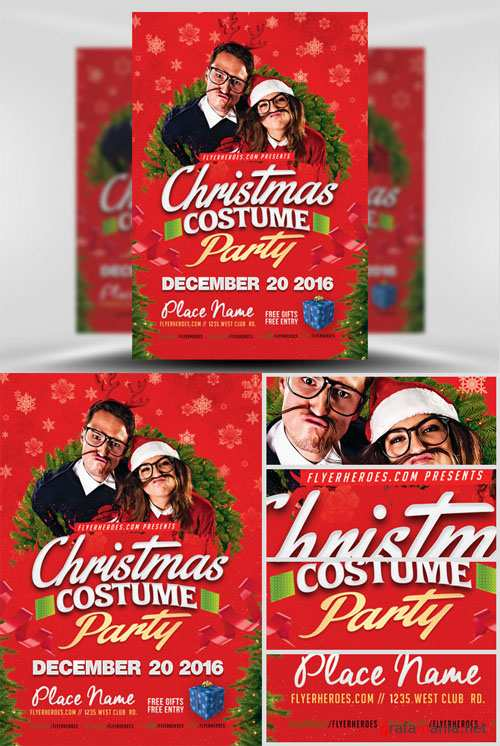 Flyer Template - Christmas Costume Party