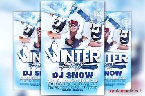 Winter Party Flyer Template - 418615