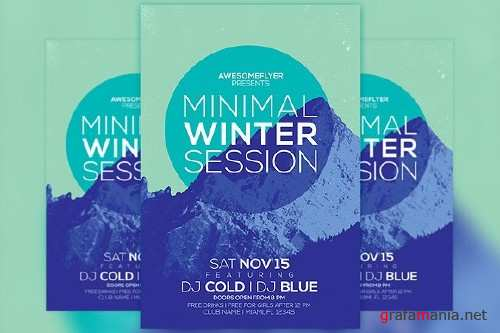 Minimal Winter Party Flyer Template - 100564