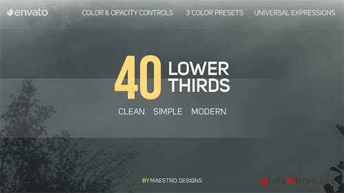 40 Lower Thirds - Project for After Effects (Videohive)