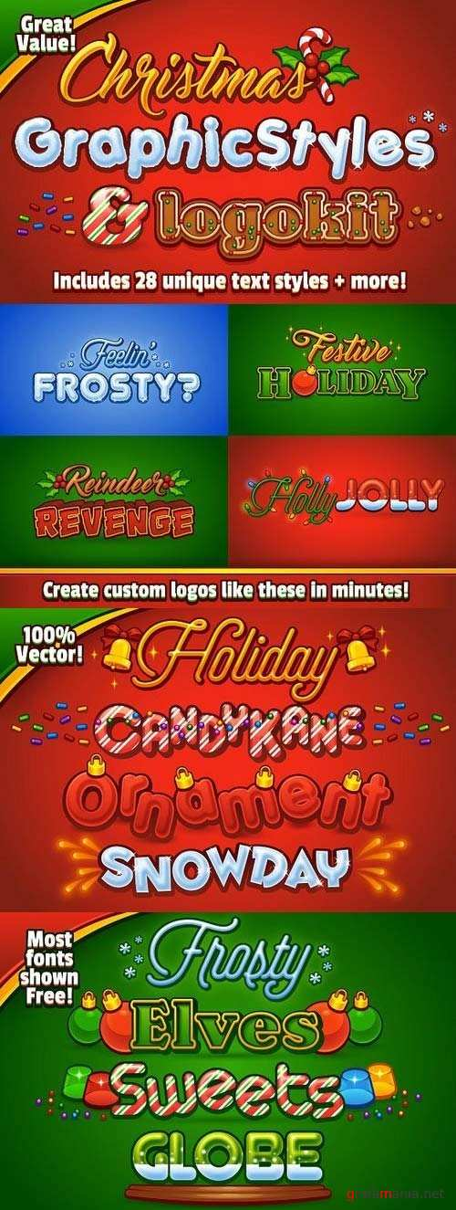 Christmas Graphic Styles & Logo Kit - 1090823