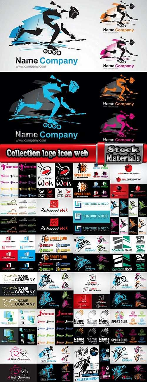 Collection logo icon web design element site 32-25 EPS