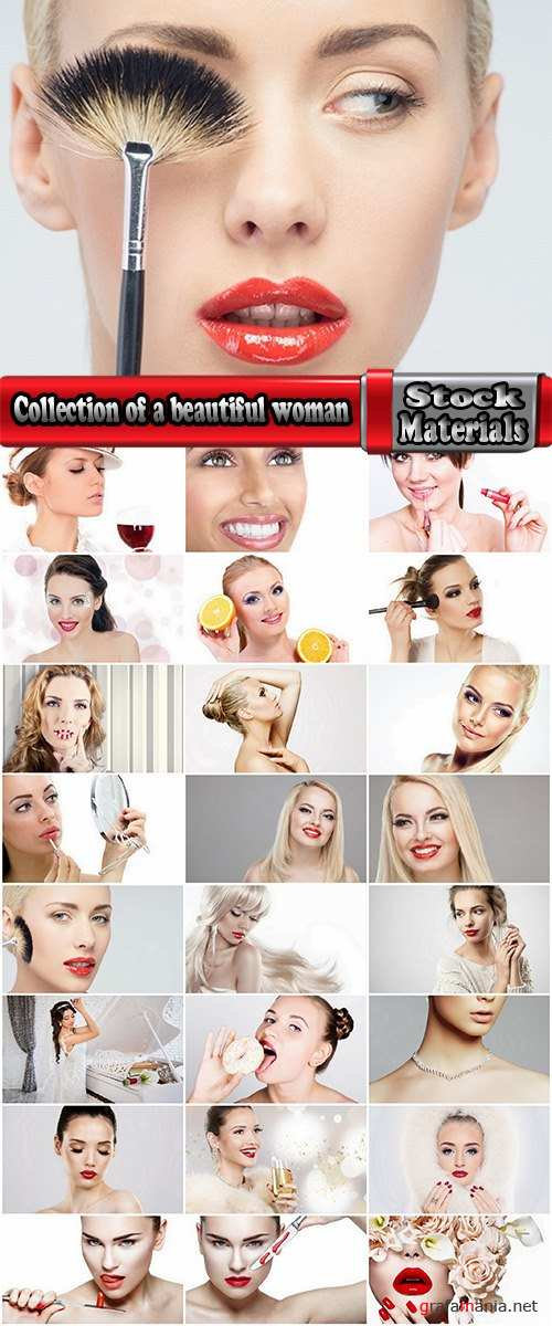 Collection of a beautiful woman with make-up girl lips 25 HQ Jpeg