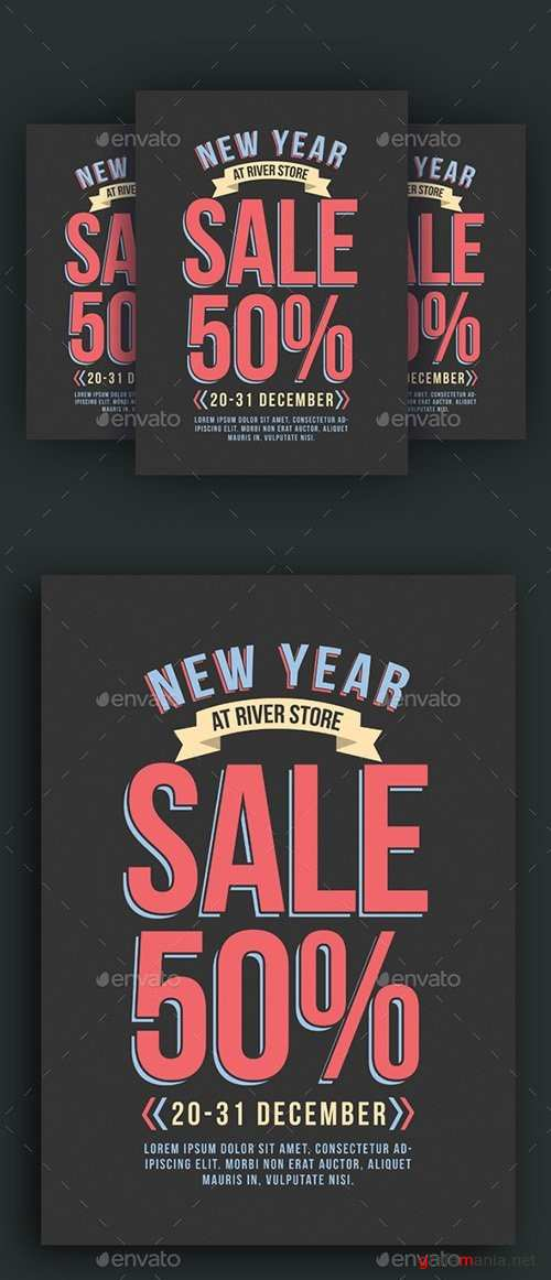 New Year Sale Flyer 19064690