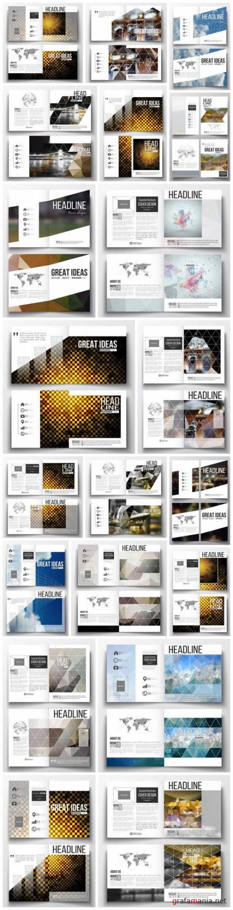 Cover design template, magazine, flyer, booklet or annual report 2 - 20xEPS Vector Stock