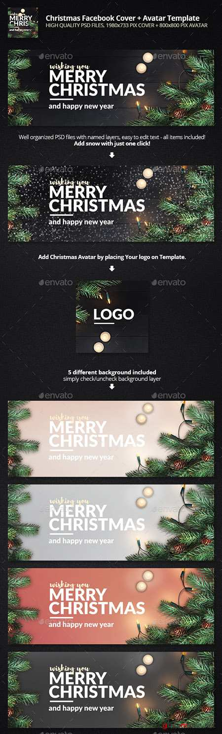 GraphicRiver - Merry Christmas - Facebook Cover 19018640