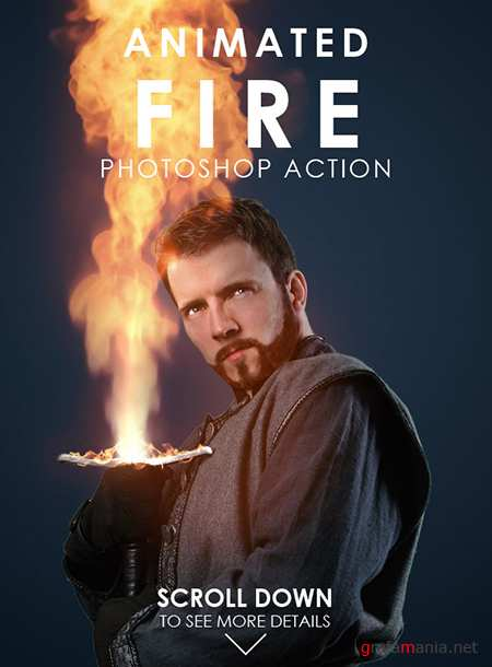 GraphicRiver - Animated Fire Photoshop Action 19171775