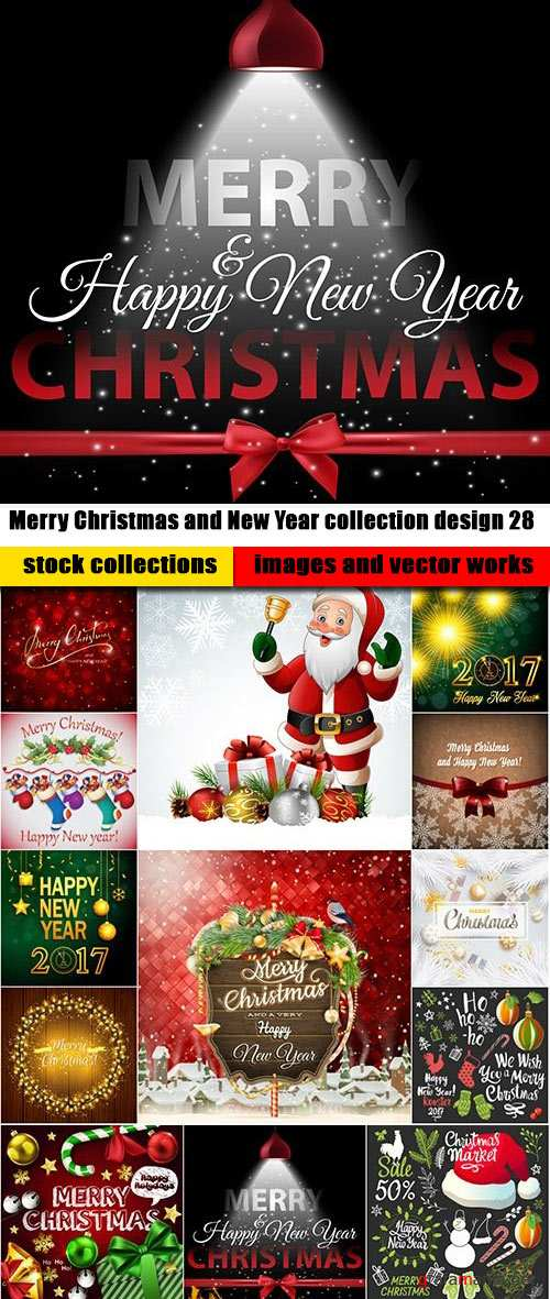Merry Christmas and New Year collection design 28