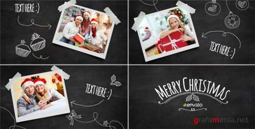 Christmas Blackboard - After Effects Project (Videohive)