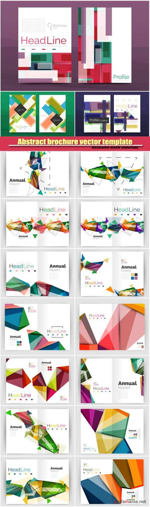 Abstract vector geometric design business brochure cover