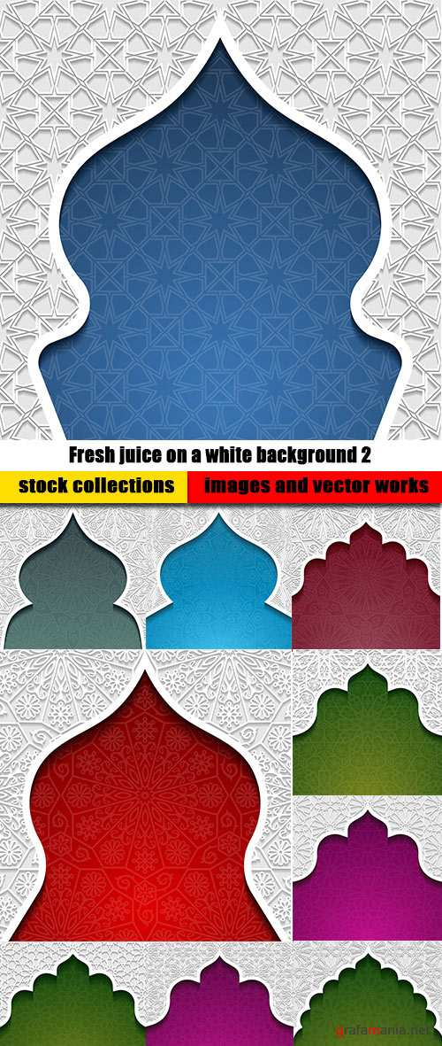 Multicolored arab background with ornament