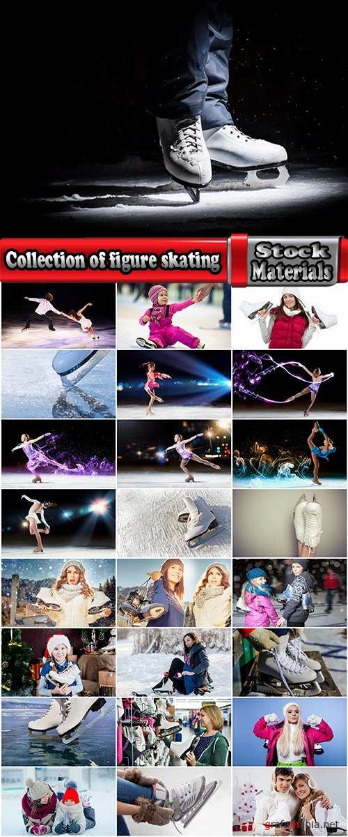 Collection of figure skating ice skates 25 HQ Jpeg