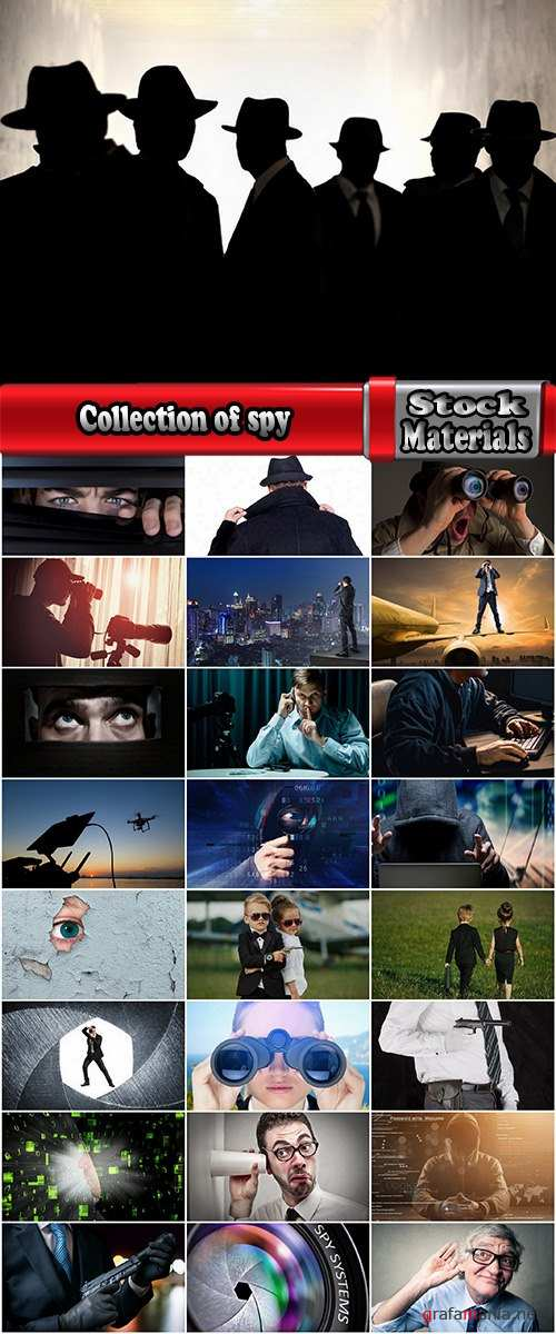 Collection of spy intelligence officer special agent tracking a hacker tool wiretapping 25 HQ Jpeg