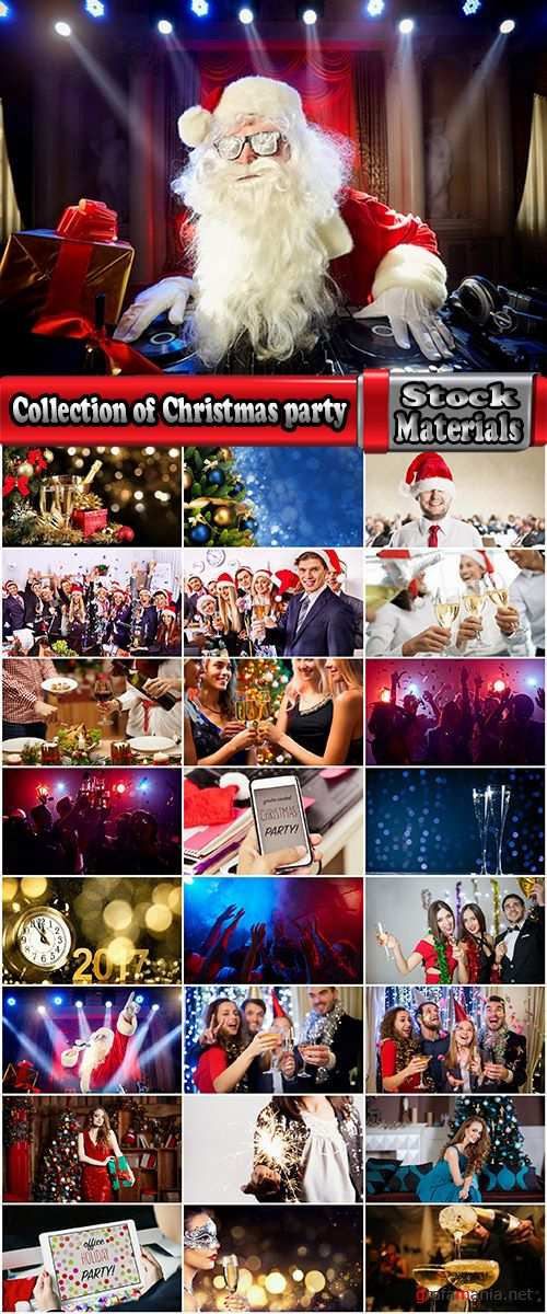 Collection of Christmas party celebration champagne corporate holiday fun 25 HQ Jpeg