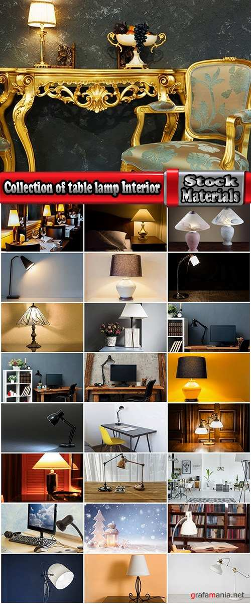 Collection of table lamp Interior lamp accessories 25 HQ Jpeg