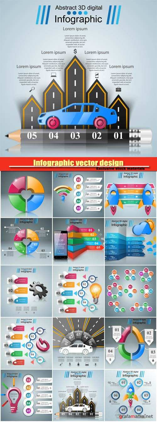 Infographic vector design, light icon