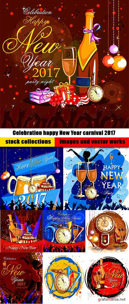 Celebration happy New Year carnival 2017