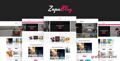 ZupaBlog – Creative Blog and Magazine PSD Template 18705116