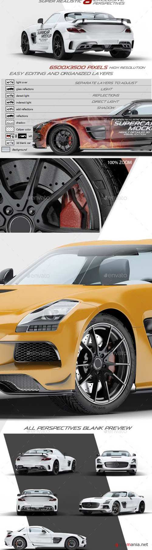 Supercar Mercedes SLS AMG Mock-Up 10540512
