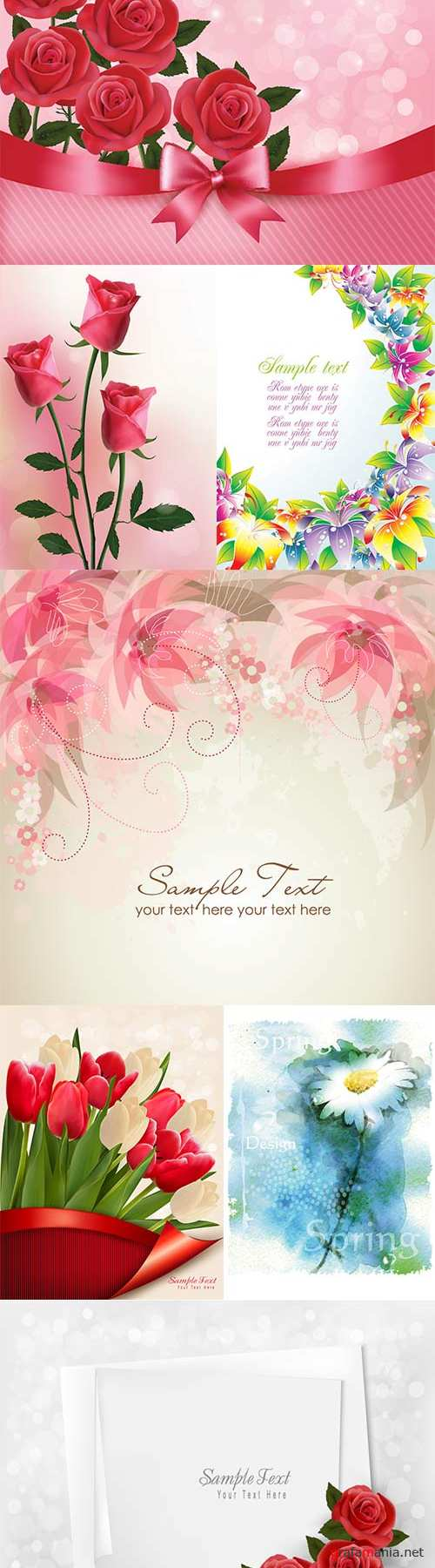 Awesome vector flowers-12