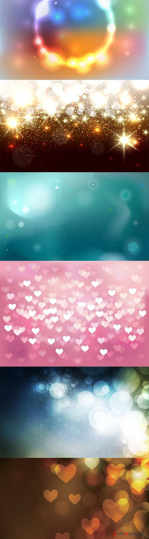 Vector bokeh colorful backgrounds - 6