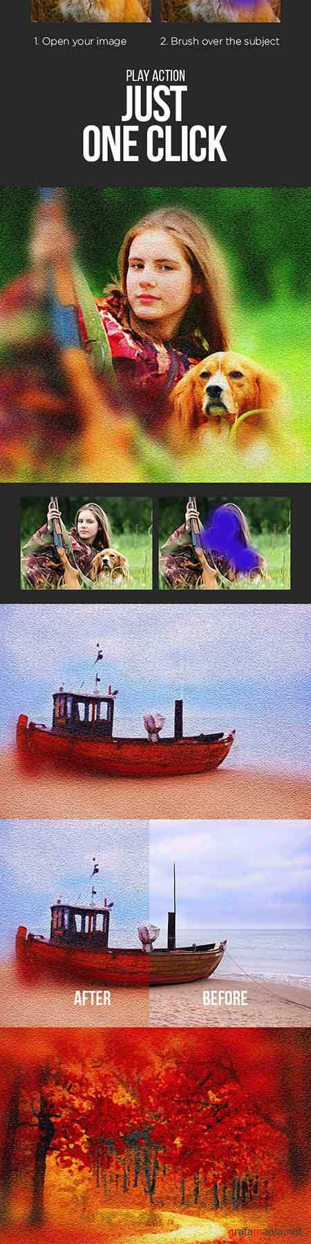 GraphicRiver - Oil Painting Photoshop Action 19175001